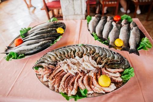 bon plat de fruits de mer